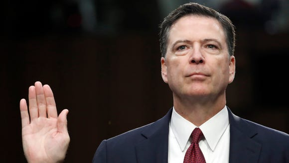 In this June 8, 2017 file photo, former FBI Director
