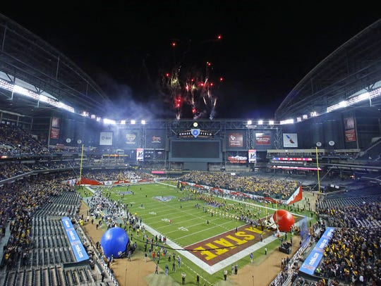 Chase Field is the home of the Cactus Bowl.