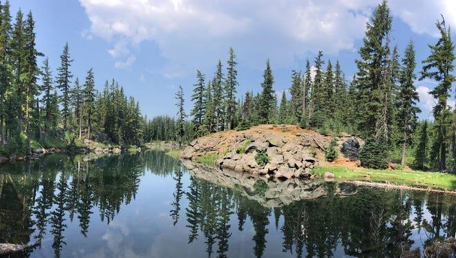 A panorama of Lancelot Lake.