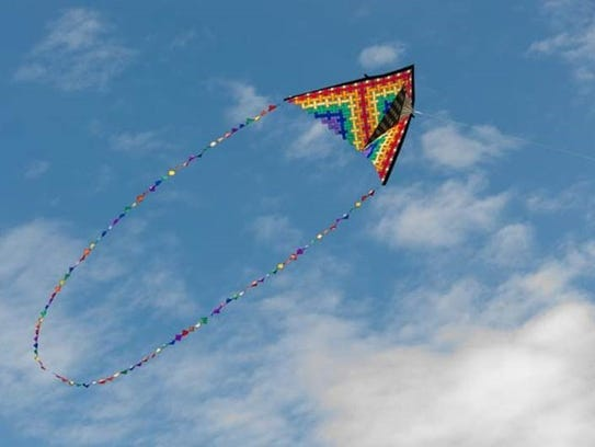 One of the most colorful flyers at the Kite Festival