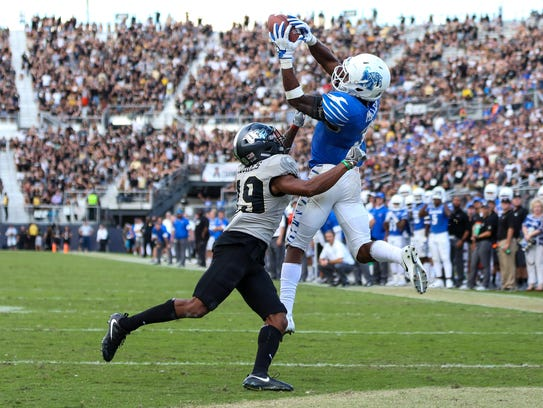 Memphis' Anthony Miller scored 18 touchdowns in 2017,