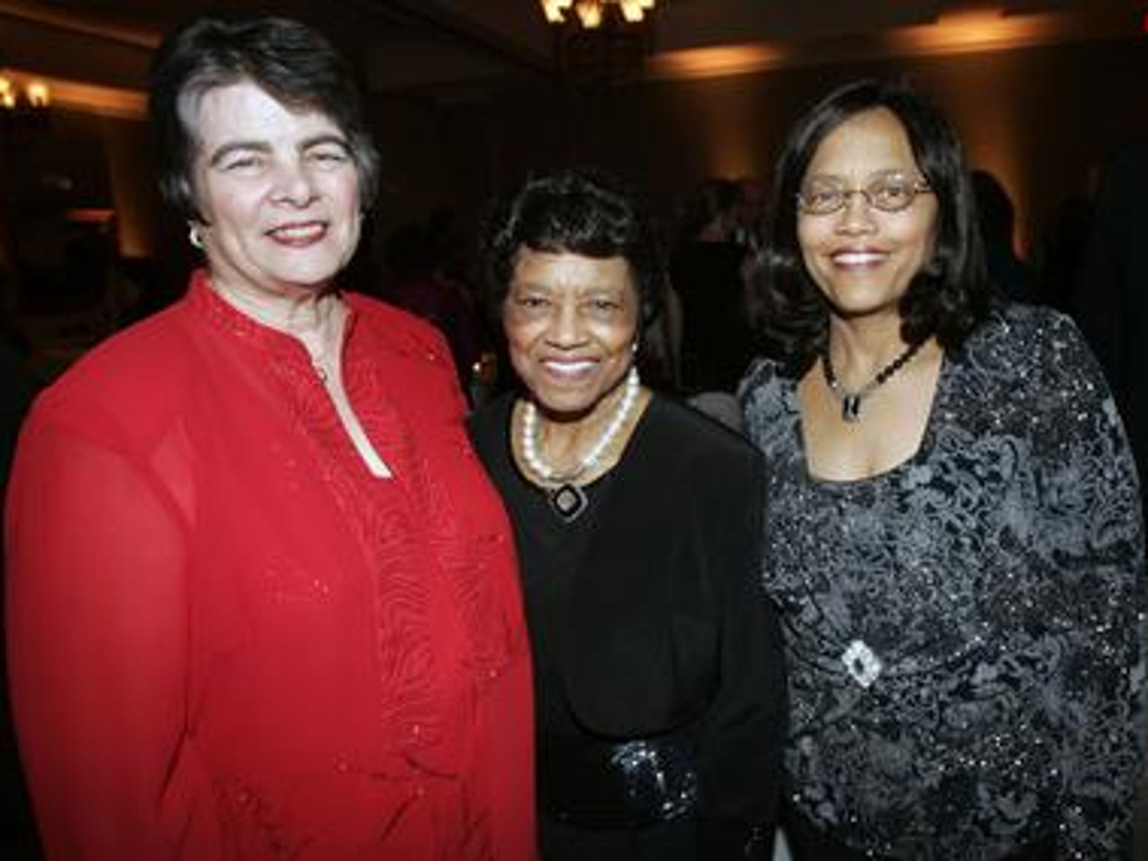 Murfreesboro Schools Director Linda Gilbert, left, stands with Mary Scales, center, and Madelyn Scales Harris at the Excellence in Education Celebration at Stones River Country Club in 2011.
