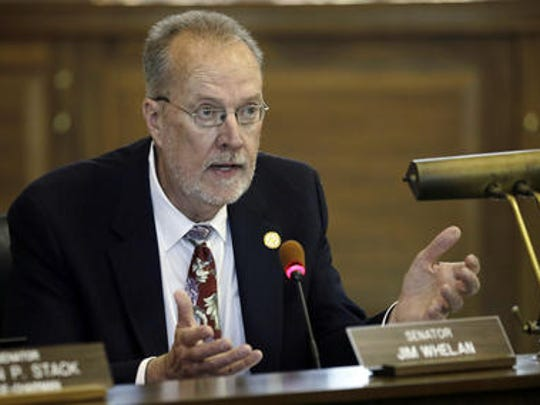 State Sen. Jim Whelan speaks during a New Jersey Senate Budget and Appropriations Committee meeting in this 2015 photo.