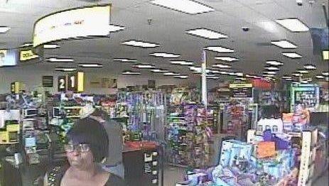 A surveillance photo of Dollar General suspect.