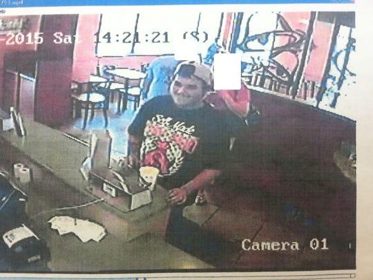 Screen shot of counterfeit money suspect