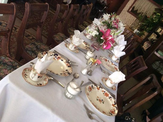 A table set for a private party at Glenwood Tea Room in Shreveport