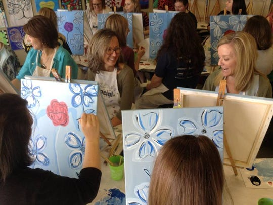 Get creative with your girls at The Social Canvas.