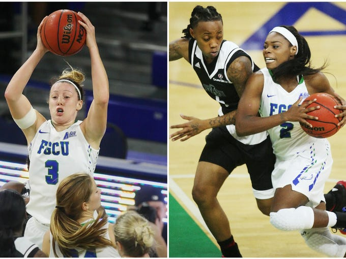 Action and scenes from FGCU's game against Arkansas