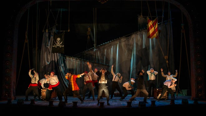 "A scene from the Clarence  Brown Theatre's season opener ""Peter and the Starcatcher."""