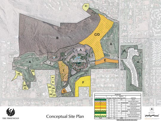 This map shows the plan for homes at the Phoenician.