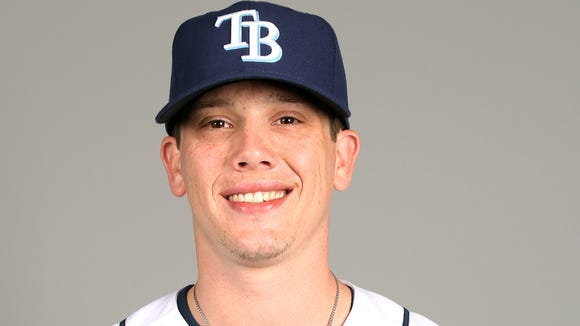 PORT CHARLOTTE, FL - FEBRUARY 21:  Jeremy Hellickson #58 of the Tampa Bay Rays poses during Photo Day on Thursday, February 21, 2013 at Charlotte Sports Park in Port Charlotte, Florida.  (Photo by Robbie Rogers/MLB Photos via Getty Images) *** Local Caption *** Jeremy Hellickson
