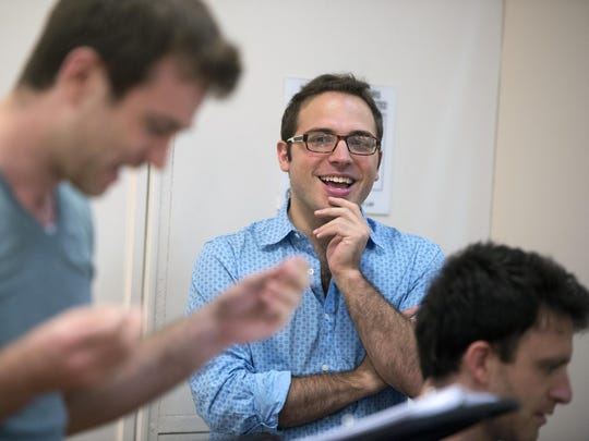 """Foolerie"" creator Santino DeAngelo watches rehearsals for his new musical in New York City earlier this month."