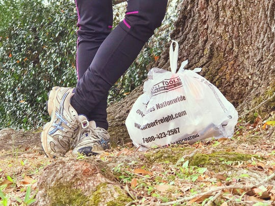A littered plastic bag becomes the motivation behind a Saturday morning walk and one-person neighborhood cleanup.