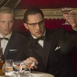 """Tom Hardy plays the roles of both London gangster twins Ronnie and Reggie Kray in """"Legend."""""""