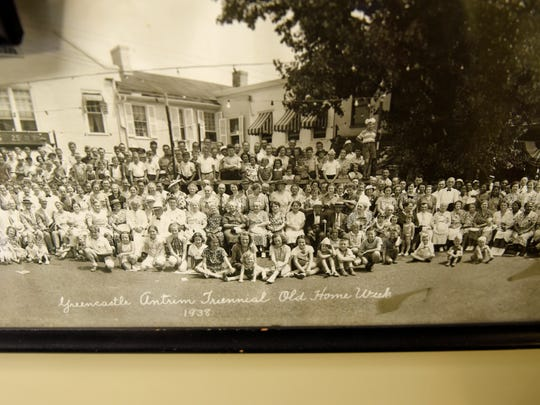 This is a copy of a 1938 photo of the Old Home Week
