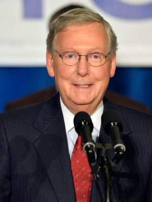 In a statement Monday, June 2, 2014, Kentucky Sen. Mitch McConnell promised to fight the new EPA coal regulations.