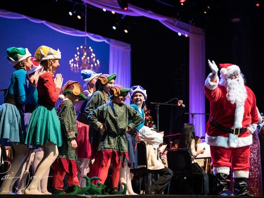 Santa Claus is always a welcome part of the Knoxville Symphony's Clayton Holiday Concert.