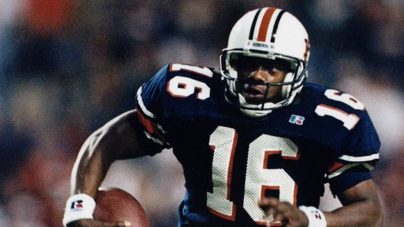 Former Auburn quarterback and current wide receivers coach and co-offensive coordinator Dameyune Craig was inducted into the Mobile Sports Hall of Fame on Thursday.