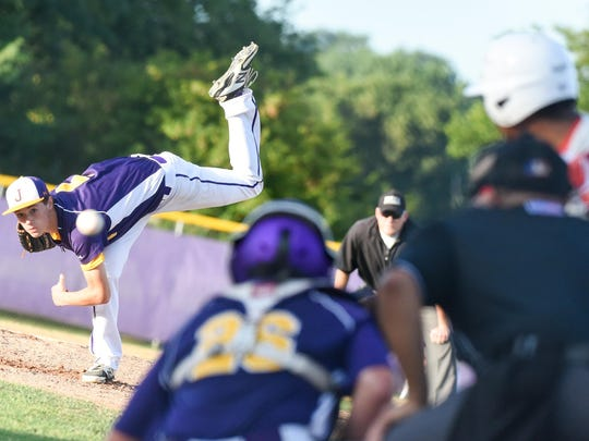Johnston's Jack Dreyer pitches during a Class 4A substate