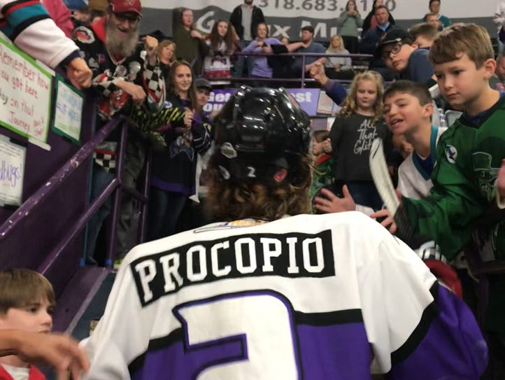 Shreveport Mudbugs captain Dominic Procopio is swamped