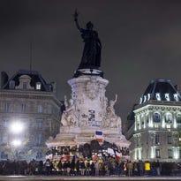 A memorial in Paris on Nov. 15.