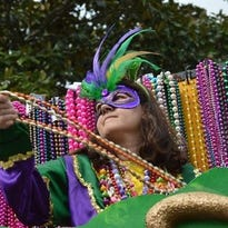 Each person who donates Mardi Gras beads to a recycling drive in Natchitoches on Tuesday will get a slice of king cake.