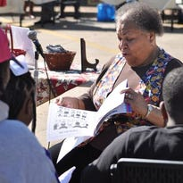 """Storyteller Gwen """"Ms. Chocolate"""" Williams will be featured in a Black History Month program at 10 a.m. Wednesday in the Main Library at 411 Washington St. in Alexandria."""