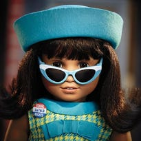 From American Girl, the new doll, Melody Ellison, which is debuting in August 2016. Melody is a doll in the company's Be Forever historical line, and her story is set in Detroit in the mid-1960s and is framed around Motown and the civil rights movement.
