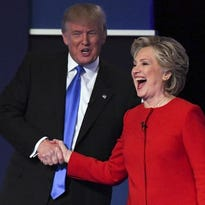 Donald Trump and Hillary Clinton after Monday's first presidential debate.