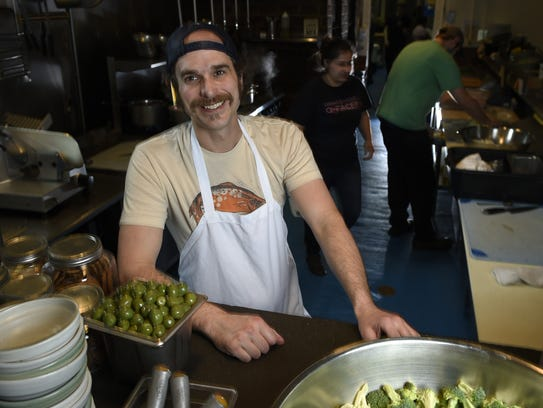 Tandy Wilson, chef/owner of City House works in the