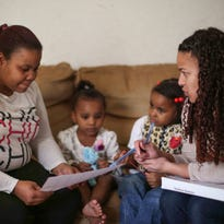 19 photos: Head Start teachers visit homes to aid parents, students