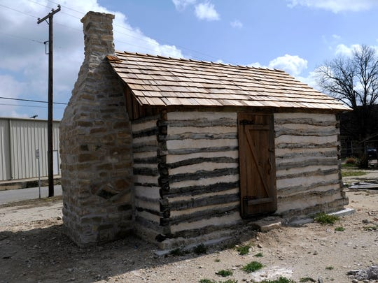 A log cabin recently was moved and reassembled at Heritage Village in Comanche. Revitalize Comanche is building the park, and is creating the nearby Central Texas Cultural Center.
