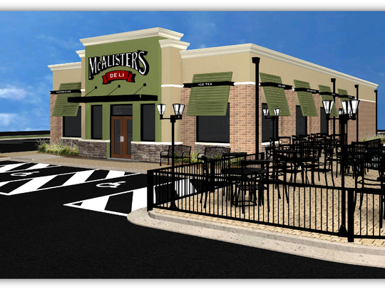 An architect's drawing of the style of the McAlister's