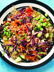 This protein-packed quinoa salad was created by vegan