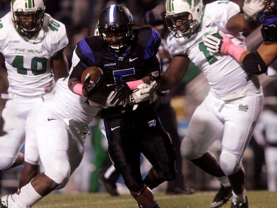 MTSU running back Jeremiah Bryson had 467 all-purpose yards last season.
