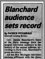 A clipping from the Jan. 20, 1984 edition of the Lansing
