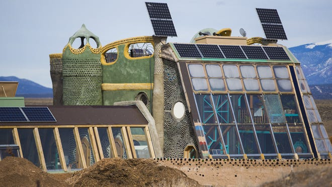 Visitors center at the Earthship Biotecture outside of Taos, New Mexico February 2, 2017.
