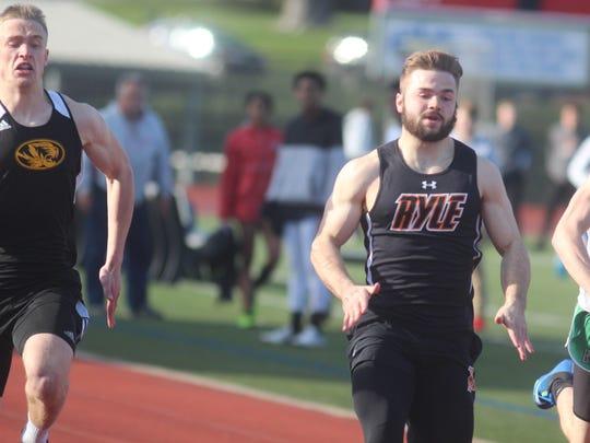 From left, Bellevue senior Seth Evers, Ryle senior