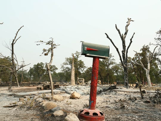 These images show the aftermath of the Carr Fire in