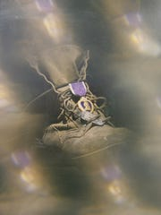 An art installation by Jerry Donnellan, Rockland Veterans Service Agency director, who lost a leg in Vietnam.