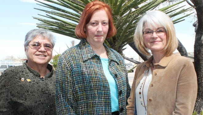 Ruth Wilkes, Kassandra Herstgaard and Jana Carstaedt worked together for months to get Herstgaard her eye sight back through cataract surgery and tumor removal.