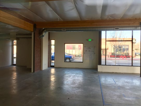 The interior of the new Whispering Vine Wine Co. in