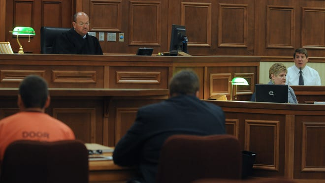 Door County Circuit Court with Judge D. Todd Ehlers presides over a hearing on Sept. 12, 2012.