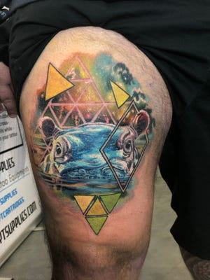 Patrick Kelly,of Independence, got a tribute to Fiona on Saturday at atattoo convention in Cleveland.Tattoo by Bobby Cupparro.