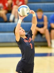 Lebanon's Aurianis Lassalle Rivera sets the ball during