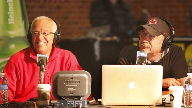 Marty Brennaman talks with Bob Kevoian,  on the Bob and Tom Show, last year on Reds Opening Day.
