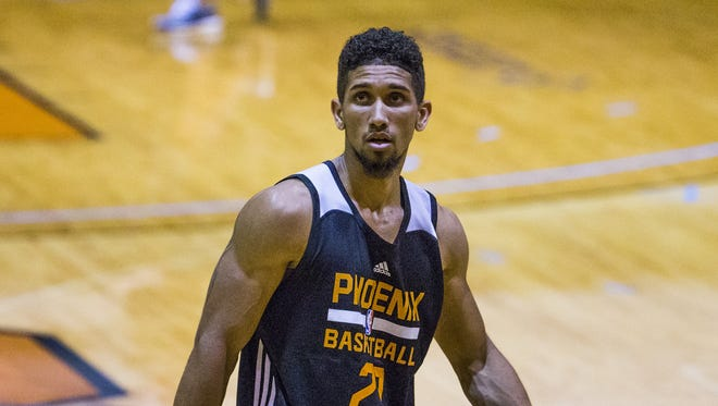 Askia Booker, seen at a Summer League practice in July, will be playing for the Northern Arizona Suns.