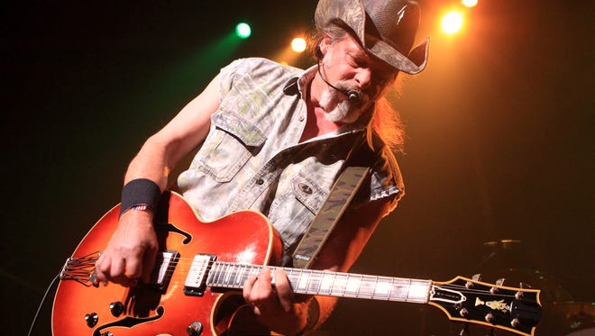 Ted Nugent seen performing at Rams Head Live in Baltimore.