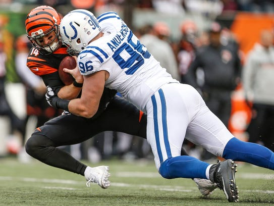 Slimmed down for the new scheme, Henry Anderson figures to face a pivotal year on the Colts' defensive line.