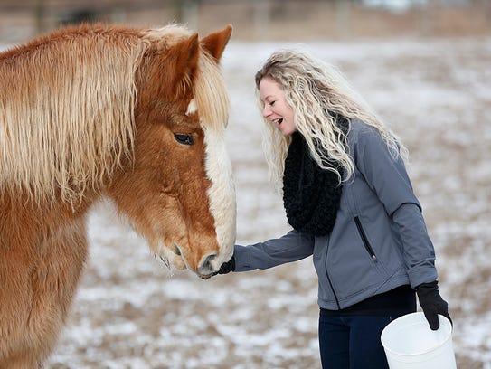 Alicia Hans, program coordinator at Free SPIRIT Riders